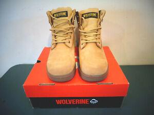 "WOLVERINE CHEYENE LEATHER UPPER 6"" BOOTS MENS SIZE 8.5 M NIB TAN/GOLD WO1038"
