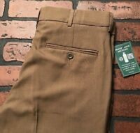 Covington The Perfect Pant Men's Taupe Comfort Pleated Cuff Pants Size 30 x 30
