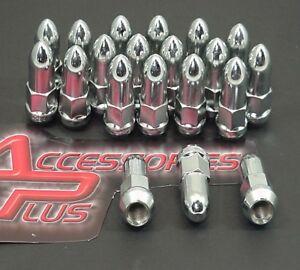 20 Pc BULLET 2002-2011 DODGE RAM 1500 CHROME SOLID WHEEL LUG NUTS # AP1410