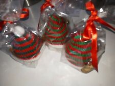 Hand Knitted Christmas Hats With Bath Bombs - set of 3