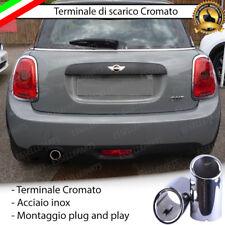 TERMINALE SCARICO CROMATO SINGOLO LUCIDO ACCAIO INOX MINI F55 F56 ONE COOPER