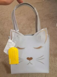 BNWT Kate Spade Cat Icon Small Bag - Light Grey