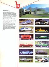 BERTONE Prototypes Alfa Romeo Lancia Stratos Lamborghini Fiat Jaguar ++ brochure