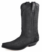 Botas cowboy Unisex Knee High Mayura estilo 17 Negro UE tamaño 40, Marrón UE tamaño 44