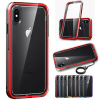 Hybrid TPU Silicone Clear Rugged Cover Case For iPhone XS Max XR X 8 7 6S Plus