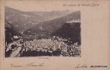 # VARALLO SESIA: UN SALUTO DA - PANORAMA  1902