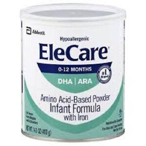Elecare Infant Formula DHA/ARA (6) 14.1oz Cans FAST SHIPPING