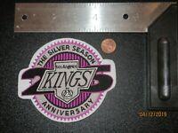 Los Angeles Kings 25th Silver Season Anniversary Logo Patch Hockey