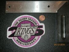 Los Angeles Kings 25th Silver Season Anniversary Logo Patch Hockey