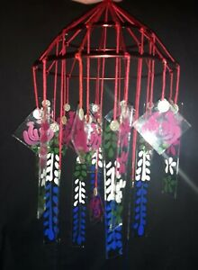 Japanese glass wind chime  Oriental Rose Authentic design