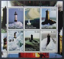 Tajikistan(Russian local post) 2000 - Lighthouses, 1 M/Sh, MNH, TPLR 23