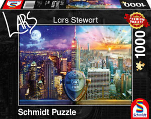 New York Night and Day: Schmidt Lars Stewart Premium Collection Jigsaw Puzzle