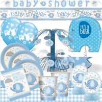 Blue Elephant Baby Shower Party Tableware, Decorations, Invites, Balloons