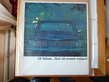1964 Plymouth Valiant Car Dealer Sales Brochure / Catalog / Canada/English