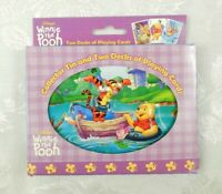 Winnie the Pooh Playing Cards 2 Decks Disney Collector Tin NEW