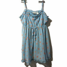 Delicates Designer Lingerie Babydoll Chemise Pajamas Sheer Blue Sz M Sleeveless