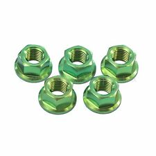 5x Suzuki GSXR1000 K5 K6 K7 K8 Green M10x 1.25 Titanium Rear Sprocket Nuts