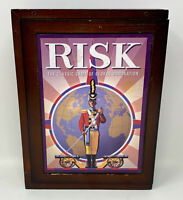 Hasbro Risk Vintage Collection Library Shelf Wooden Case Edition Parker Brothers
