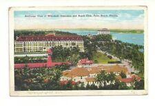 BIRD'S EYE VIEW OF WHITEHALL, POINCIANA & BEACH CLUB PALM BEACH FLORIDA POSTCARD