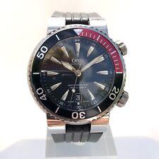 Gents Oris 1000M Diver Watch Titanium Case Automatic 43mm Black Dial