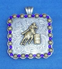 "Western Cowgirl Jewelry ~Barrel Racer~ Crystal 2 1/4"" Concho Pendant Kit"