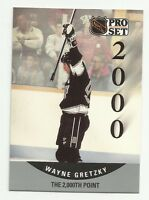 WAYNE GRETZKY 1990-91 PRO SET #703 LA KINGS THE 2000th. POINT