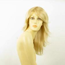 Perruque femme mi-longue blond doré méché blond très clair GINA 24BT613