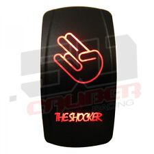 12V Rocker Switch On/Off The Shocker LED Backlit Ski Wake Fish Pontoon Boat Red