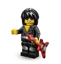 Lego series 12 rock star #12 of 16 with collectors checklist & unused code