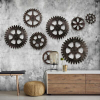 Wooden Art Gear Industrial Home Wall Club Decor Office Bar Antique Steampunk US