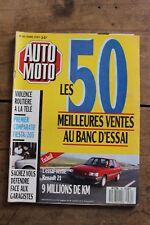 Auto Moto - N°80 - 1989 - Renault 21 - Ford Fiesta / Peugeot 205