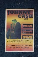 Johnny Cash Poster 1968 Folsom Prison June Carter