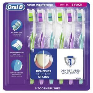Oral-B 3D White Vivid Toothbrushes, 6 pk.
