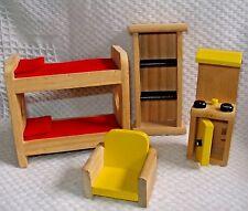Dollhouse wooden furniture 4 pc. lot - Plan? Melissa & Doug?