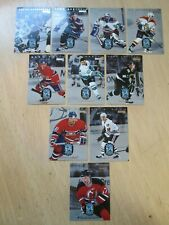1996-97 DONRUSS HOCKEY, RATED ROOKIES, COMPLETE INSERT SET, CARDS 1-10