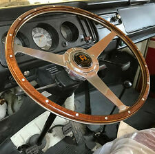 "Wolfsburg Steering Wheel T2 Wood Rim Bay Window VW Late Bus Camper 17"" AAC182"