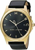 Marc Jacobs Women's  Watch With Leather Band MJ1608 New