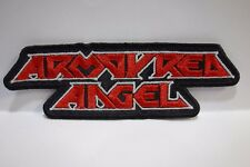 armoured angel red and white shaped logo  EMBROIDERED PATCH