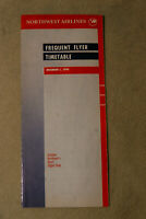 Northwest Airlines Timetable - Frequent Flyer Timetable - Dec 1, 1990
