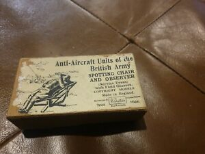 Britains toy pre war Anti_aircraft set #1731 spotting chair and observer