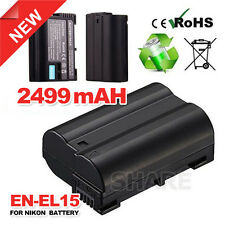 OZ for Nikon EN-EL15 Battery For Nikon D7000 D7100 D750 D600 D800 D800E V1 Camer
