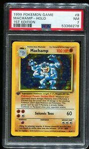 1999 Pokémon Pokemon Game Holo #8 MACHAMP PSA 7 NM