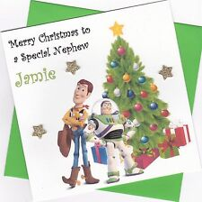 PERSONALISED STICKERS CHRISTMAS XMAS PRESENT TAG LABEL XMAS DISNEY TOY STORY 2