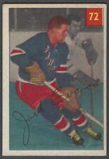 1954-55 Parkhurst New York Rangers Hockey Card #72 Jack Evans