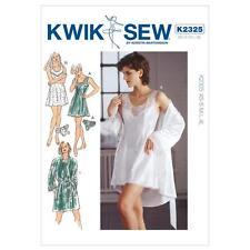 Kwik Sew patrón de costura pierde's chemise Robe y calzones Tamaños XS-XL K2325