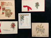 Lot of 5 vintage Christmas gift cards/greetings . One with mica/glitter.