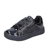 Scarpe bambina SOLO SOPRANI 33 EU sneakers nero glitter vernice BK193-33
