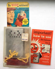 Vintage Jon-e hand body warmer case bag box original packaging winter hunting