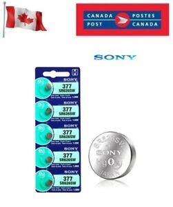 5 x Sony 377 SR626SW 280-39 SR66 LR66 AG4 1.55V Watch Battery exp 12-2028 Silver