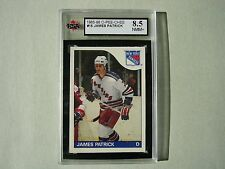 1985/86 O-PEE-CHEE NHL HOCKEY CARD #15 JAMES PATRICK KSA 8.5 NM/MT+ 85/86 OPC